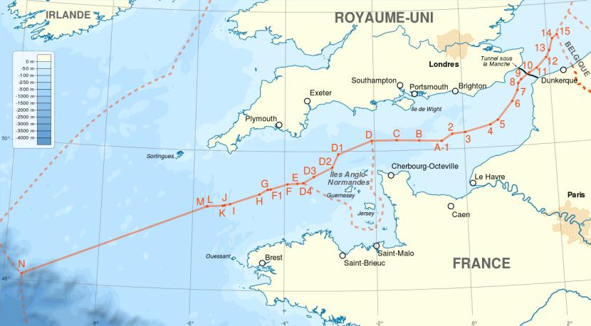 Les frontières maritimes de laFrance